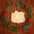 Stock Photo: Wreath of fir branches