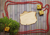 Christmas background with garland — Stock Photo