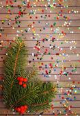 Confetti and twig tree — Stock Photo