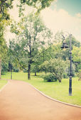 Lamp in the park,tinted — Stock Photo