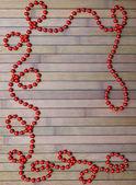 Röd jul krans — Stockfoto