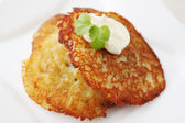 Baked potato pancake — Stock Photo