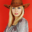 Woman in a cowboy hat — Stock Photo #19444821