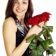 Woman with a roses — Stock Photo