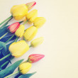 Bouquet of tulips, vintage — Stock Photo