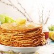 Pancakes copy space - Stock Photo