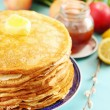 Постер, плакат: Pancakes with butter