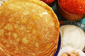 Pancakes close-up — Stock Photo