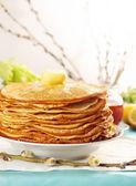 Pancakes copy space — Stock Photo