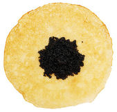 Pancake with caviar — Stock Photo