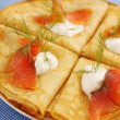 Appetizer with salmon - Stock Photo
