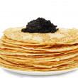 Stock Photo: Pile of ruddy pancakes