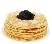 Ruddy pancakes — Stock Photo