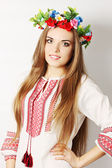 Ukrainian woman in a wreath — Stock Photo