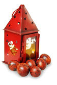 Lantern with painted eggs — Stock Photo