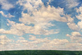 Sky with clouds,vintage — Stock Photo