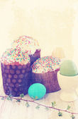 Easter cakes vintage — Stock Photo
