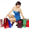 Lot of shopping bags — Stock Photo