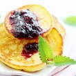 Pancakes with jam — Stockfoto