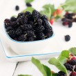 Black mulberries - Stock Photo