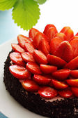 Strawberry on the cake — Stock Photo