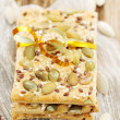 Cookies with pumpkin seeds — Stock Photo