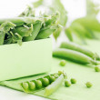 Fresh pods of green peas — Stock Photo #27097033