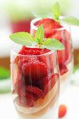 Strawberry jelly — Stockfoto