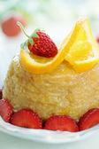 Dessert with oranges — Stock Photo