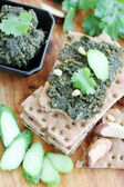 Pate with nuts and cilantro — Stock Photo