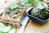 Pate with cilantro — Stock Photo