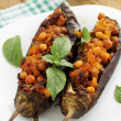 Eggplant stuffed with chick-pea — Stock Photo