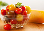 Tomatoes on the plate — Stock Photo