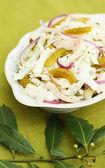 沙拉配新鲜白菜 — 图库照片