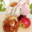Jam made from apple slices — Stock Photo #34246243