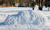 Big car out of the snow — Stock Photo