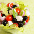 Salad with cheese — Stockfoto