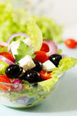 Greek salad with cheese — Stockfoto