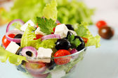 Greek salad with olives — Foto Stock