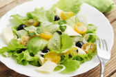 Salad with cheese — Stock Photo