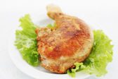 Fried chicken leg — Stock Photo