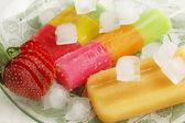 Fruit ice with strawberries — Stock fotografie