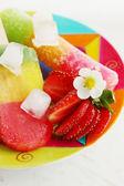 Summer berry dessert — 图库照片