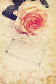 Blank card,vintage — Stock Photo