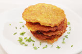 Ruddy Potato pancakes, — Stock Photo