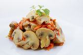 Spicy salad of mushrooms — Stock Photo