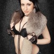 Brunette in fur — Stock Photo #5885680