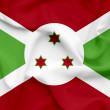 Burundi waving flag — Stock Photo
