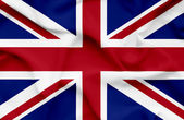 Great Britain waving flag — Stock Photo