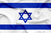 Israel waving flag — Stock Photo